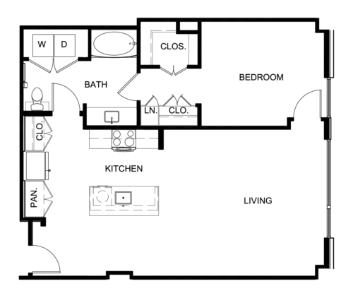 932 sq. ft. A10 floor plan