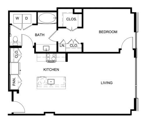 932 sq. ft. A10 floor plan