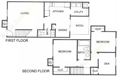 1,059 sq. ft. B4 floor plan