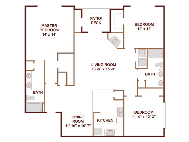 1,565 sq. ft. Union floor plan