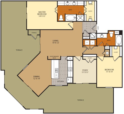 1,566 sq. ft. C1C floor plan
