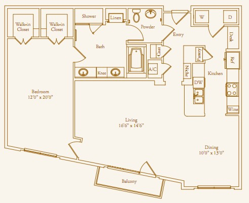 1,291 sq. ft. Avalon floor plan