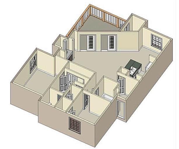 1,246 sq. ft. C2 floor plan