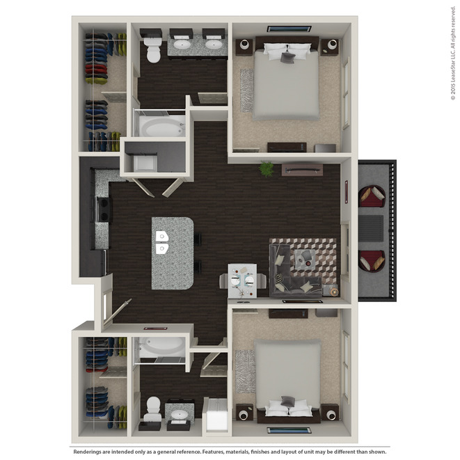 1,003 sq. ft. B1.3 floor plan