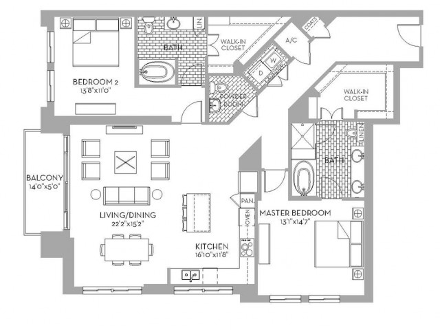 1,776 sq. ft. Preston(B.5) floor plan