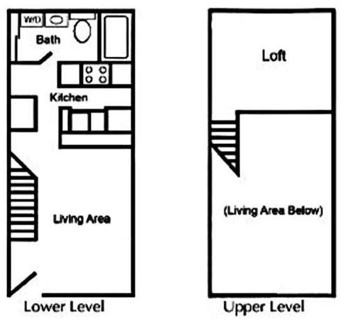 460 sq. ft. floor plan