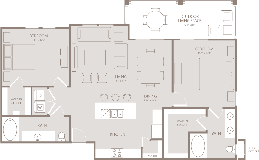 1,249 sq. ft. Paisley floor plan