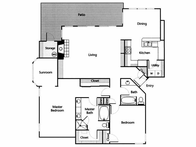 1,620 sq. ft. Sabine floor plan