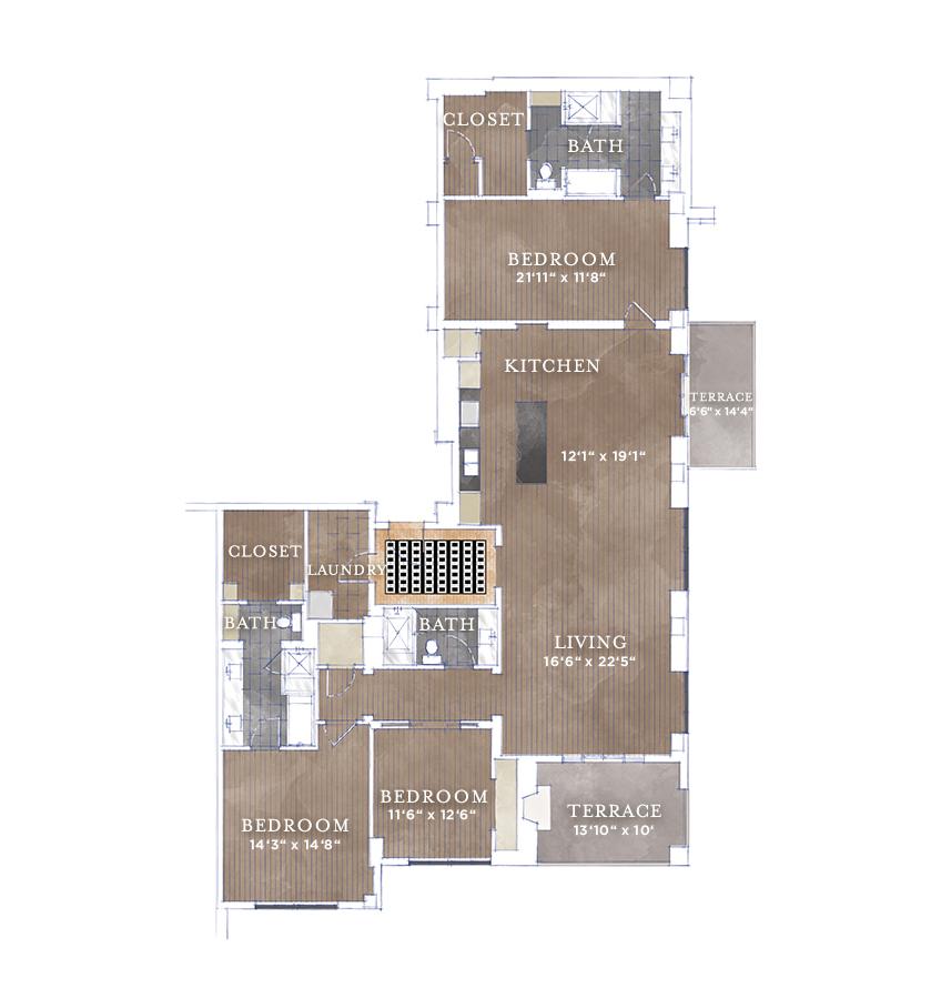 2,450 sq. ft. JPH-3 floor plan