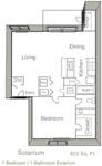 803 sq. ft. C floor plan