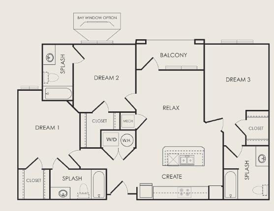 1,197 sq. ft. Verse floor plan
