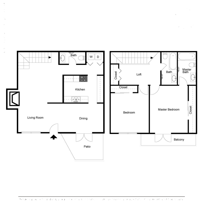 1,283 sq. ft. floor plan