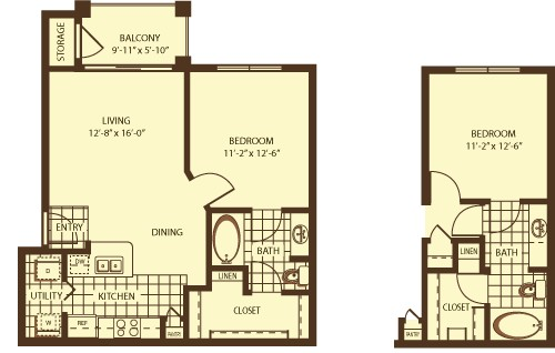 669 sq. ft. Palmerston floor plan