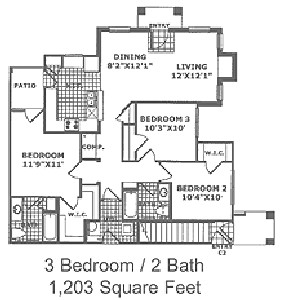 1,203 sq. ft. C1 60 floor plan
