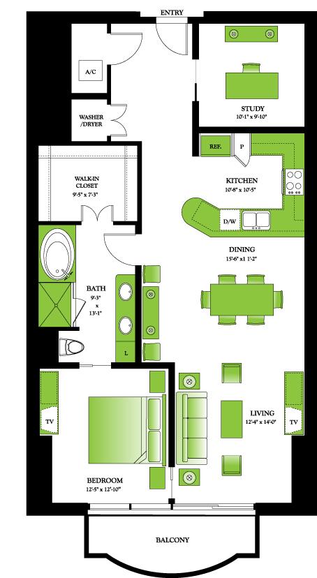 1,197 sq. ft. Buckeye floor plan