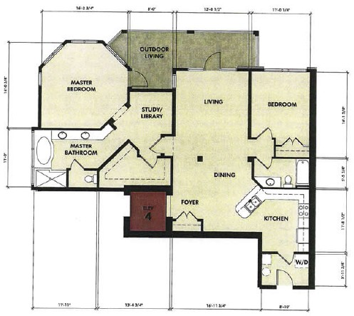 1,497 sq. ft. Nueces floor plan