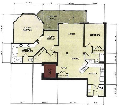 1,497 sq. ft. Nueces floor plan