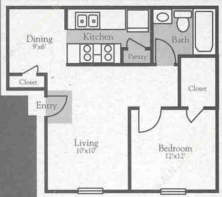 625 sq. ft. A floor plan