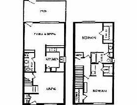 1,450 sq. ft. floor plan