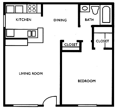 615 sq. ft. D floor plan