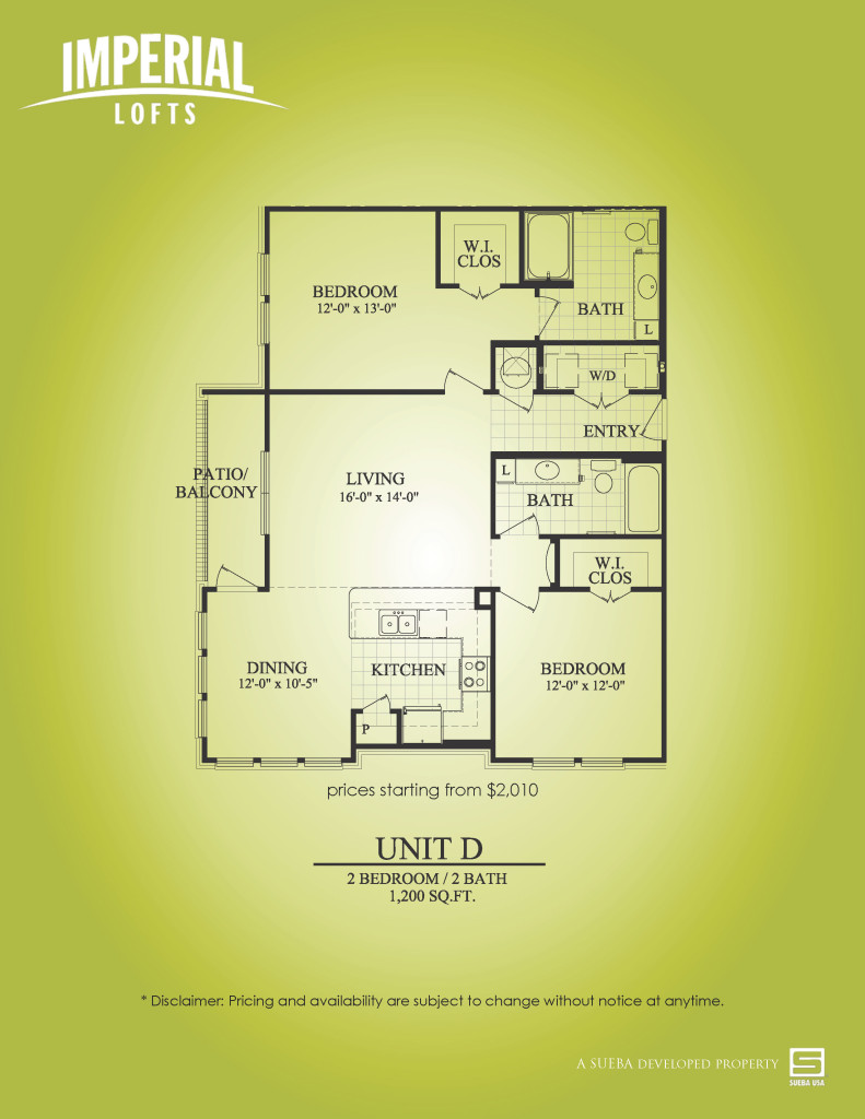 1,200 sq. ft. D floor plan