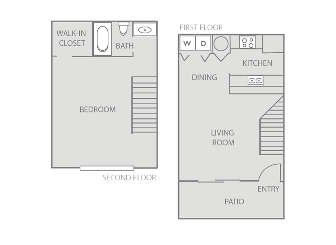 720 sq. ft. Buxton/80% floor plan