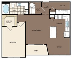 814 sq. ft. A3 floor plan