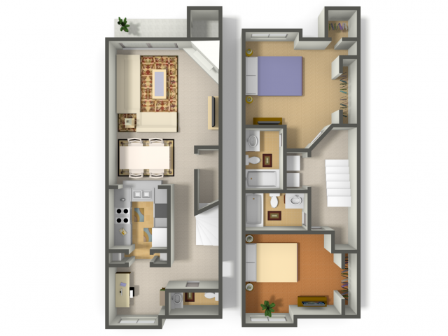 1,300 sq. ft. Robin floor plan