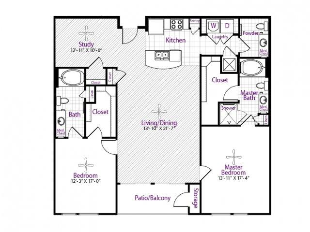 1,556 sq. ft. floor plan