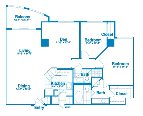 1,422 sq. ft. CT1/CT1A floor plan
