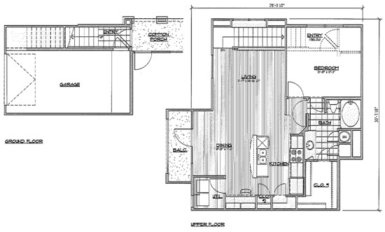 929 sq. ft. A8/Sabal floor plan