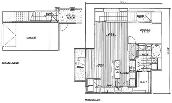 929 sq. ft. A8/Sabal floor plan