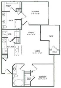 1,021 sq. ft. Saltmarsh-HC floor plan