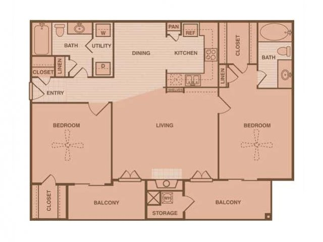 1,035 sq. ft. Westchase floor plan