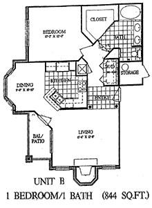 844 sq. ft. Birch floor plan