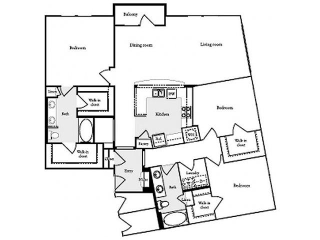 1,665 sq. ft. C2 floor plan