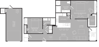 1,259 sq. ft. Ontario floor plan