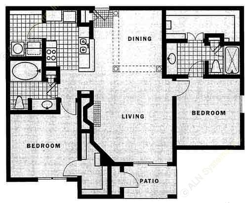 1,243 sq. ft. Algranza floor plan