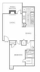 685 sq. ft. A4 floor plan