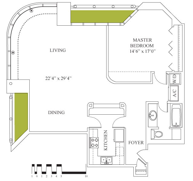 1,211 sq. ft. floor plan