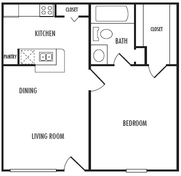 529 sq. ft. A floor plan