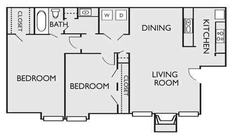 920 sq. ft. B3 floor plan