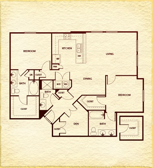 1,413 sq. ft. C710 floor plan
