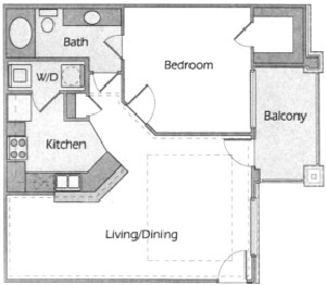755 sq. ft. Nautica floor plan
