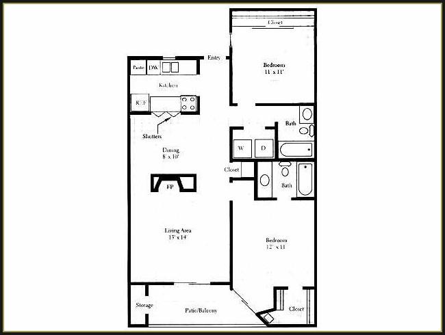 973 sq. ft. B2 floor plan