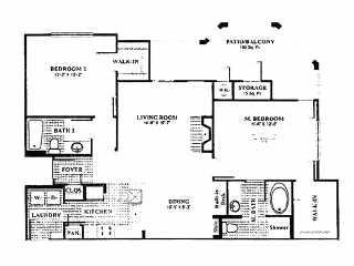 1,243 sq. ft. B7 floor plan