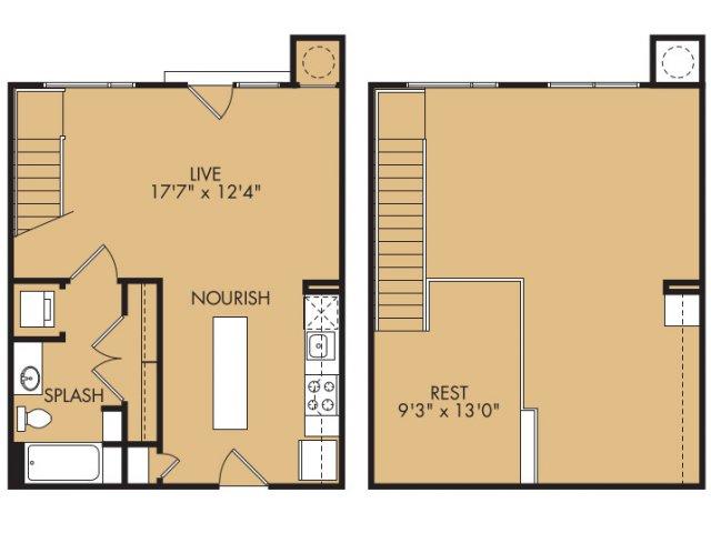 726 sq. ft. A8x floor plan