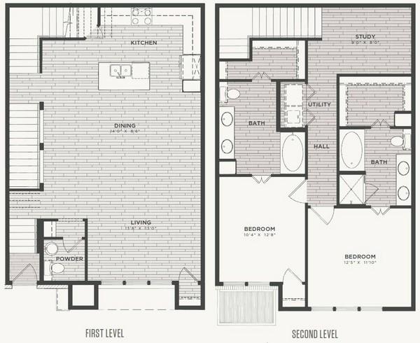 1,638 sq. ft. B1 floor plan