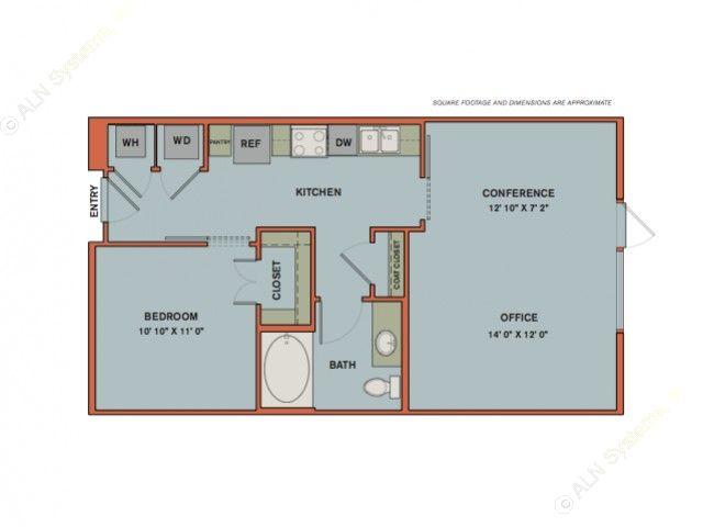 715 sq. ft. A11.1 floor plan