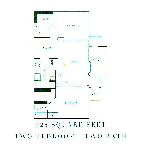 925 sq. ft. Fairmont floor plan